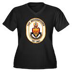 USS MOOSBRUG Women's Plus Size V-Neck Dark T-Shirt