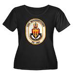 USS MOOS Women's Plus Size Scoop Neck Dark T-Shirt