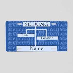 Genealogy Ancestor Seeking Aluminum License Plate