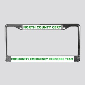 North County Cert License Plate Frame