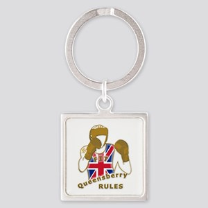 England GB Boxing Square Keychain