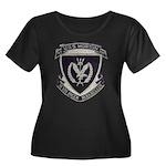 USS MORT Women's Plus Size Scoop Neck Dark T-Shirt