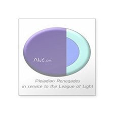 "League Of Light Pleiadian Square Sticker 3"" X"