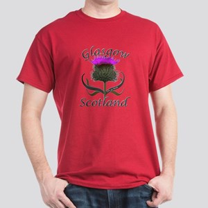 Glasgow Scotland Thistle Dark T-Shirt