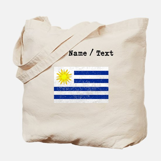 Custom Distressed Uruguay Flag Tote Bag