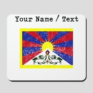 Custom Distressed Tibet Flag Mousepad
