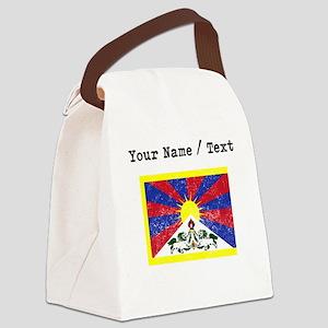 Custom Distressed Tibet Flag Canvas Lunch Bag