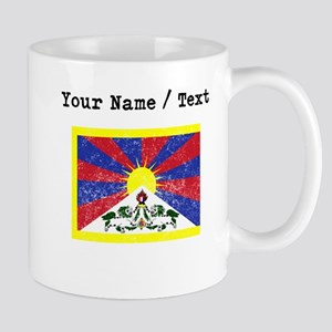Custom Distressed Tibet Flag Mugs