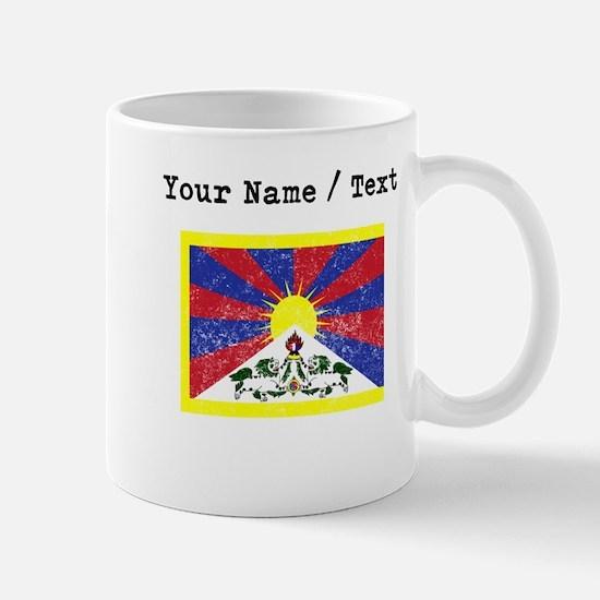 Custom Distressed Tibet Flag Mugs