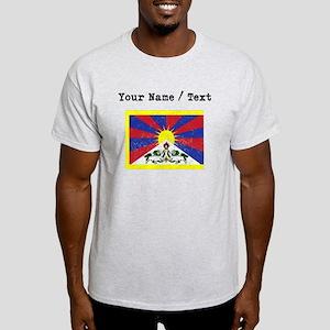 Custom Distressed Tibet Flag T-Shirt