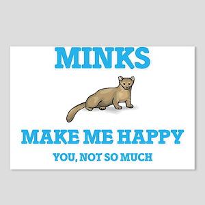 Minks Make Me Happy Postcards (Package of 8)