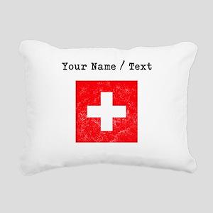 Custom Distressed Switzerland Flag Rectangular Can