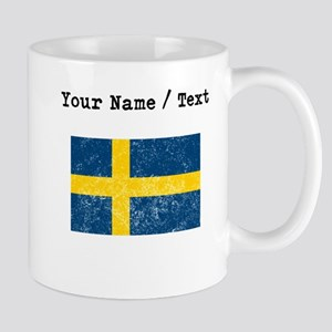 Custom Distressed Sweden Flag Mugs