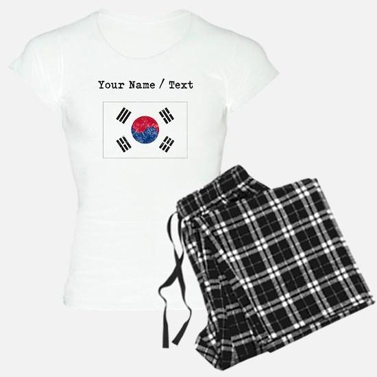 Custom Distressed South Korea Flag Pajamas