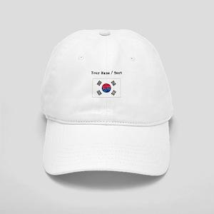 Custom Distressed South Korea Flag Baseball Cap