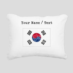 Custom Distressed South Korea Flag Rectangular Can