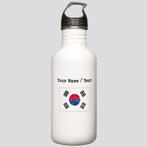 Custom Distressed South Korea Flag Water Bottle