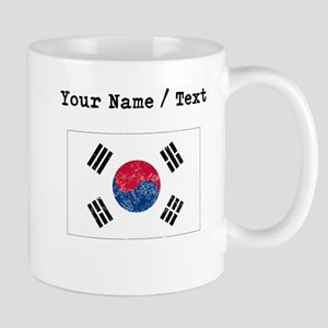 Custom Distressed South Korea Flag Mugs