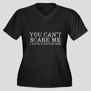 You Cant Sca Women's Plus Size V-Neck Dark T-Shirt