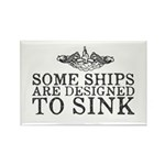 Some Ships Are Designe Rectangle Magnet (100 pack)