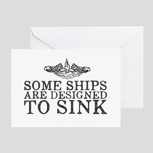 Some Ships Are Designed to Sink Greeting Card