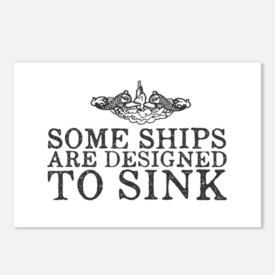 Some Ships Are Designed t Postcards (Package of 8)