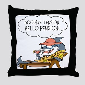 Goodbye Tension Hello Pension Retirement Throw Pil