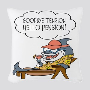 Goodbye Tension Hello Pension Retirement Woven Thr
