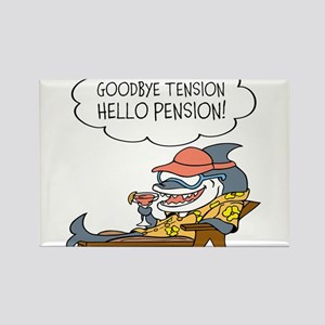 Goodbye Tension Hello Pension Retirement Magnets