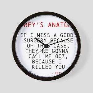 Greys Anatomy Cristina Yang Wall Clock