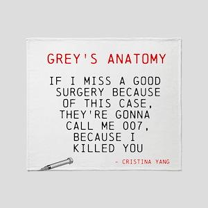 Greys Anatomy Cristina Yang Throw Blanket