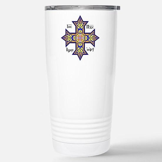 """Coptic Cross"" Stainless Steel Travel Mug"