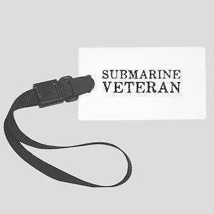Submarine Veteran Large Luggage Tag