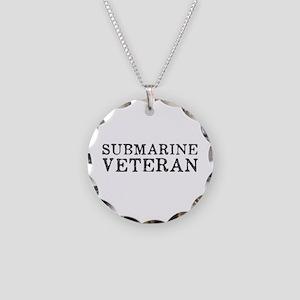 Submarine Veteran Necklace Circle Charm