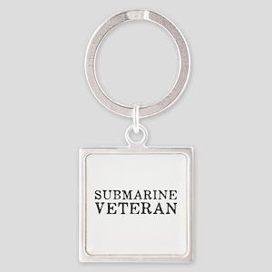 Submarine Veteran Square Keychain