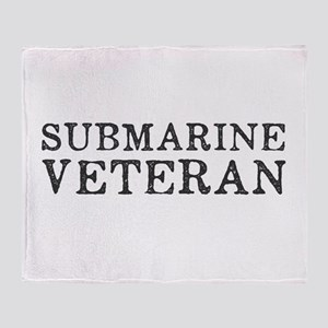 Submarine Veteran Throw Blanket