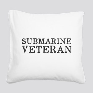 Submarine Veteran Square Canvas Pillow