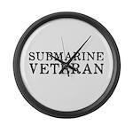 Submarine Veteran Large Wall Clock