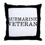 Submarine Veteran Throw Pillow