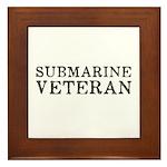 Submarine Veteran Framed Tile