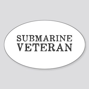 Submarine Veteran Sticker (Oval)