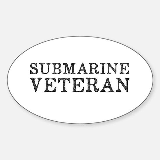 Submarine Veteran Sticker (Oval)