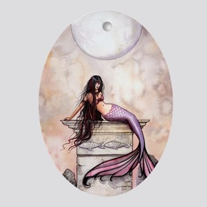 Sea Princess Mermaid Fantasy Art Ornament (Oval)