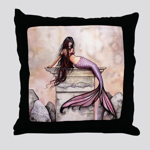 Sea Princess Mermaid Fantasy Art Throw Pillow