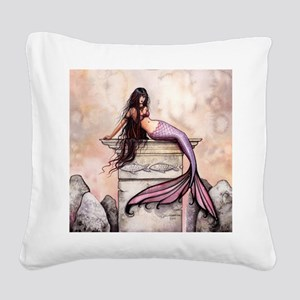 Sea Princess Mermaid Fantasy Art Square Canvas Pil