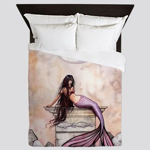 Sea Princess Mermaid Fantasy Art Queen Duvet