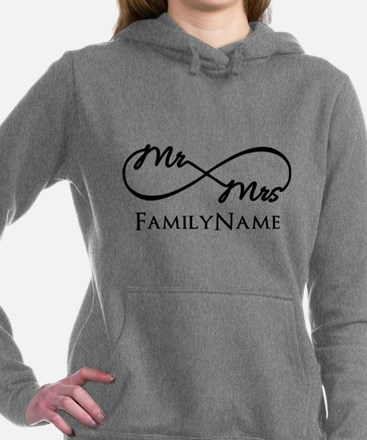 Custom Infinity Mr. and Women's Hooded Sweatshirt