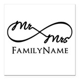 Mr and mrs Square Car Magnets