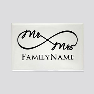 Custom Infinity Mr. and Mrs. Rectangle Magnet