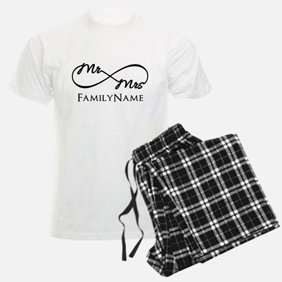 Custom Infinity Mr. and Mrs. pajamas